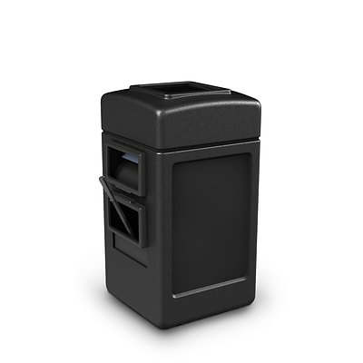 Commercial Zone Products® Islander Series Harbor 1 Waste Container and Windshield Service Center, Black (755101)