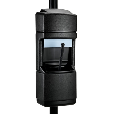 Commercial Zone Products® Islander Series Cove Isle Pole-Mounted Windshield Service Center, Black (750801)