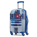 American Tourister Disney Star Wars R2-D2 Silver 21 Hardside ABS/PC split case shell (65777-4431)