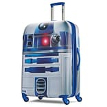 American Tourister Disney Star Wars R2-D2 Silver 28 Hardside ABS/PC split case shell (65778-4431)