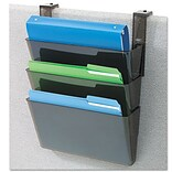 Deflecto DocuPocket Three-Pocket Partition Set, Plastic, Letter, 13w x 4d x 7h, Black; Smoke