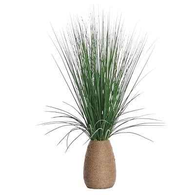 Laura Ashley 29 Tall Grass with Twigs in Hemp Rope Container 22 x 22 x 29H (VHA102438)