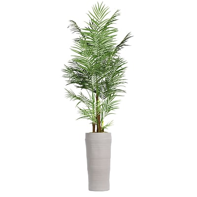Laura Ashley 97 Tall Areca Palm Tree in Planter (VHX108218)