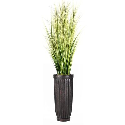 Laura Ashley 81 Tall Onion Grass with Twigs in Planter (VHX114214)