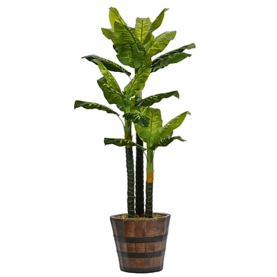 Laura Ashley 80 Tall Real Touch Evergreen in Planter (VHX123216)