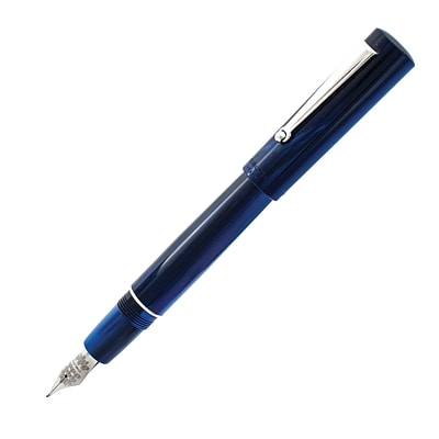 Delta Unica Blue Fountain Pen, Steel Nib, Fine Nib, (DU91333)