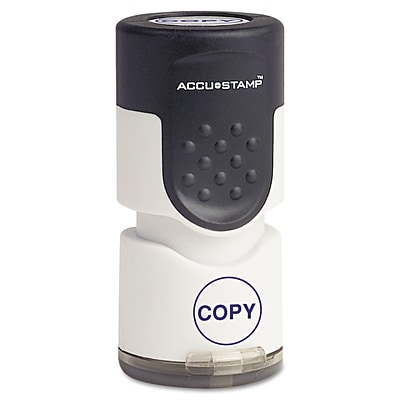 ACCUSTAMP Accustamp Pre-Inked Round Stamp With Microban, Copy, 5/8 Dia., Blue