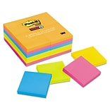 Post-it Notes Super Sticky Pads In Rio De Janeiro Colors, 3 x 3, 90/pad, 24 Pads/pack (65424SSAU)