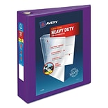 Avery Heavy-Duty View Binder with 2 One Touch EZD Rings, 540 Sheet Capacity, Purple (79777)