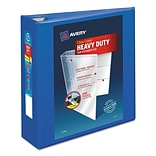 Avery Heavy-Duty View Binder with 3 One Touch EZD Rings, Pacific Blue (79811)
