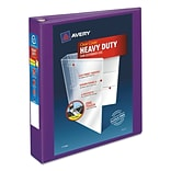 Avery Heavy-Duty View Binder with 1-1/2 One Touch EZD Rings, Purple (79774)