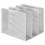Artistic Urban Collection Punched Metal File Sorter, Three Sections, 8 x 8 x 7.2, White (ART20009WH