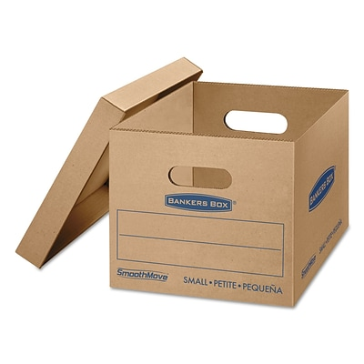 Bankers Box SmoothMove Tape Free Classic Moving Boxes with Lift-Off Lid, Small (15x 12x 10), 20/Ct (7714210)
