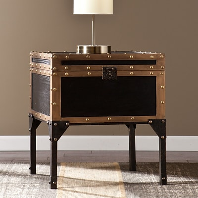 Southern Enterprises Drifton Travel Trunk End Table (CK3182)