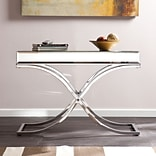 Southern Enterprises Ava Mirrored Console Table, Chrome (CK4373)