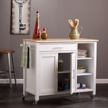 Southern Enterprises Martinville Kitchen Cart, White (KA3277)