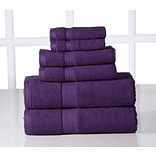 Affinity Linens 6 Piece Egyptian Cotton Towel Set; Plum