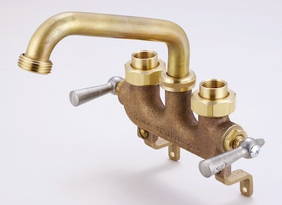 Central Brass Laundry Faucet w/ Centers and Offset Legs