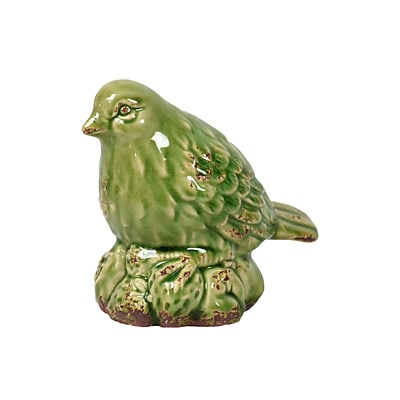 Urban Trends Ceramic Figurine ; 6L x 4W x 5.75H, Green (10842)