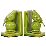 Stoneware Bookend; 5.75x4x8 Green 2/Set