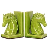 Urban Trend Stoneware Bookend 6x4x8.5 Green