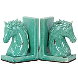 Urban Trends Stoneware Bookend 6x4x8.5 Blue