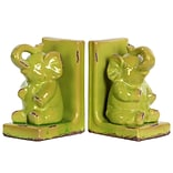 Stoneware Bookend; 5.75x4x8.5 Green