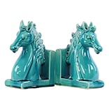 Ceramic Bookend 6.25x3.5x8.5 Turquoise 2pc