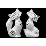 Ceramic Figurine 6.75x5.25x11 White 2pc