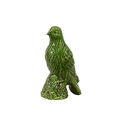 Urban Trends Ceramic Figurine; 4.5L x 6.5W x 11.5H, Green (28070)