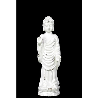 Urban Trends Ceramic Figurine; 4L x 4W x 12.5H, White (28582)