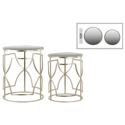 Urban Trends Metal Table; 16.25 x 16.25 x 20, Champagne, 2/SET (36100)