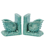 Ceramic Bookend; 6x4.5x6.5 Turquoise