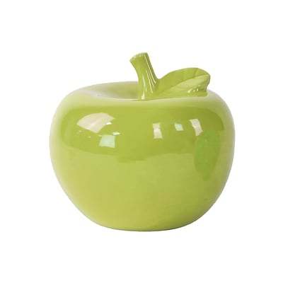 Urban Trends Ceramic Apple Figurine; 6.5 x 6.5 x 6, Green (46763)