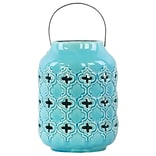 Urban Trends Ceramic Lantern 7x7x11 Blue