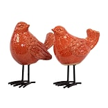 Ceramic Figurine; 7x4x8.5, Orange, 2/Set