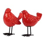 Urban Trends Ceramic Figurine; 7x4x8.5, Red