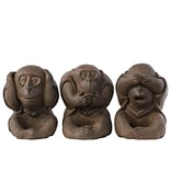 Polyresin Figurine 6.5x6.25x8.5 Brown 3pc