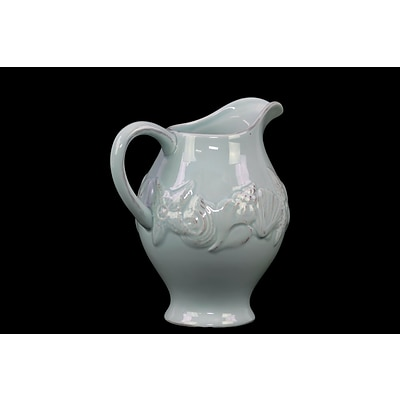 Urban Trends Ceramic Pitcher; 7 x 5.5 x 8, Blue (73070)