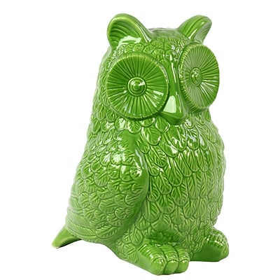 Urban Trends Ceramic Figurine; 8L x 6.5W x 10.5H, Green (73084)