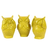 Ceramic Figurine 4.5x4x6.5 Yellow 3/SET