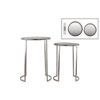 Urban Trends Metal Table; 23 x 20.5 x 28.75, Champagne, 2/Set (94198)