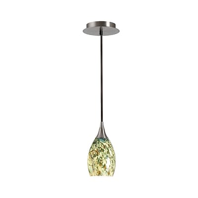 Kenroy Home Medici 1 Light Mini Pendant Brushed Steel Finish (44301BS-FORE)