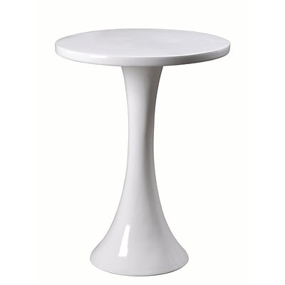 Kenroy Home Snowbird Accent Table Gloss White Finish (65012WH)