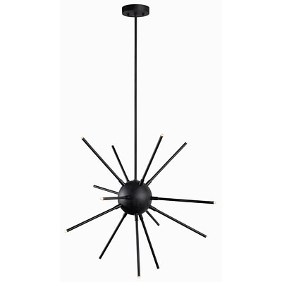 Kenroy Home Atom LED Chandelier Forged Graphite Finish (93272FGRPH)