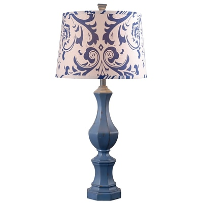 Kenroy Home Gianni Table Lamp Distressed Navy Finish (32684DNVY)