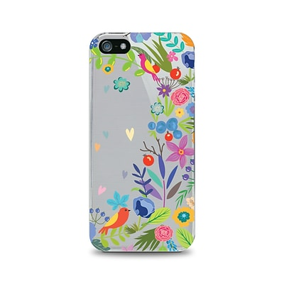 OTM Essentials Floral Prints Phone Case for Use w/iPhone 5/5S; Springtime, Clear (IP5V1CLR-FLR-01)