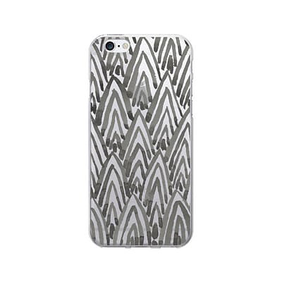 OTM Artist Prints Phone Case for Use w/iPhone 6 Plus; Arrowhead Charcoal, Clear (IP6PV1CLR-ART-06)
