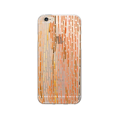 OTM Artist Prints Clear Phone Case for Use with iPhone 6/6S; Dashes Pumpkin (OP-IP6V1CLR-ART01-22)