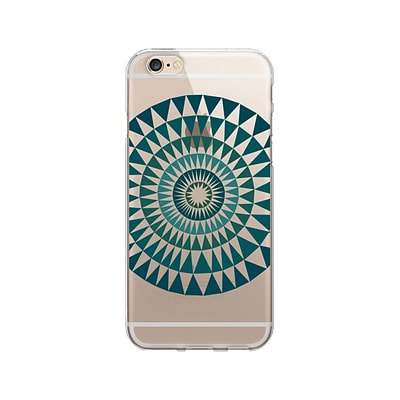 OTM Artist Prints Phone Case for Use w/iPhone 5/5S; Sun Print Blue Ivy, Clear (OP-IP5V1CLR-ART01-27)